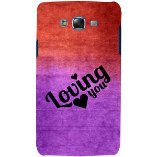 ifasho Loving you Back Case Cover for Samsung Galaxy J7 (2016)