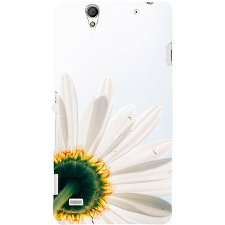ifasho Flower Design white flower in white background Back Case Cover for Sony Xperia C4