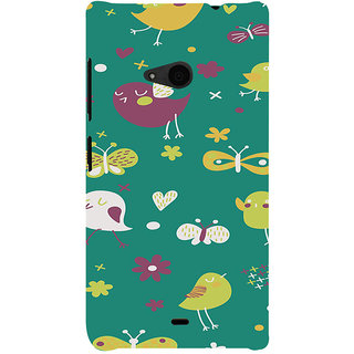 ifasho Animated Pattern birds and butterfly Back Case Cover for Nokia Lumia 535