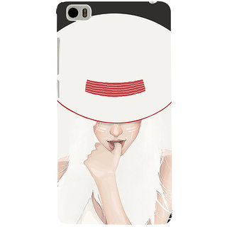 ifasho Gorgeous Winking Girl in white hat Back Case Cover for Redmi Mi5