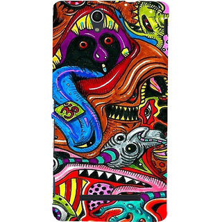ifasho Modern Art Om design pattern Back Case Cover for Sony Xperia C3 Dual