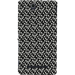 ifasho Modern Art Design animated cloth Pattern of small flower Back Case Cover for Sony Xperia C3 Dual