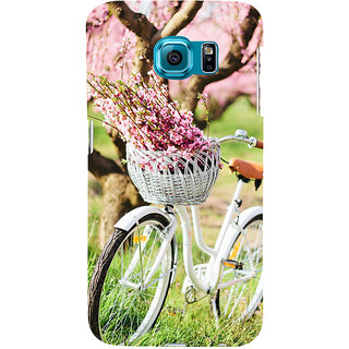 ifasho Cycle in a park with flowers and grass Back Case Cover for Samsung Galaxy S6 Edge Plus