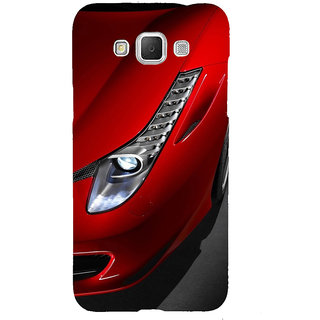 ifasho Red Royal colour Car Back Case Cover for Samsung Galaxy Grand Max