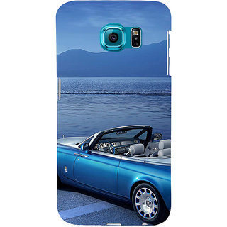 ifasho Long Car in beach Back Case Cover for Samsung Galaxy S6 Edge Plus