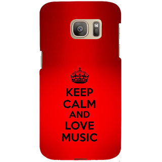 ifasho Nice Quote On Keep Calm Back Case Cover for Samsung Galaxy S7 Edge