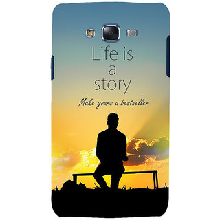 ifasho Good messge on Books life is a story Back Case Cover for Samsung Galaxy J5