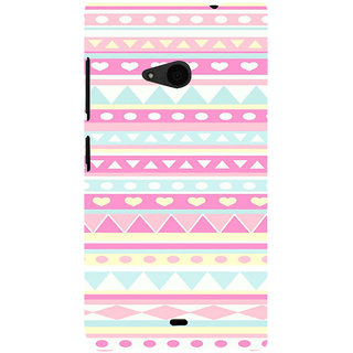ifasho multi color 3Diangular and love Pattern Back Case Cover for Nokia Lumia 535