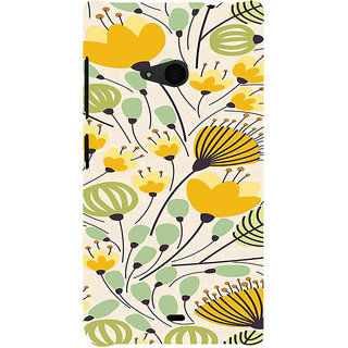 ifasho Animated Pattern colrful flower with leaves Back Case Cover for Nokia Lumia 535