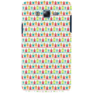 ifasho Modern Art Design Pattern Lot Doll and postbox  Back Case Cover for Samsung Galaxy J7