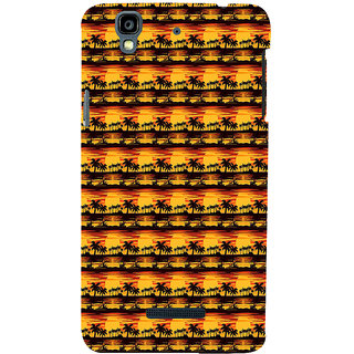 ifasho Modern Design animated Pattern small 3Dees in lines Back Case Cover for YU Yurekha