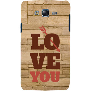 ifasho Quote On Love you and me Back Case Cover for Samsung Galaxy J7 (2016)