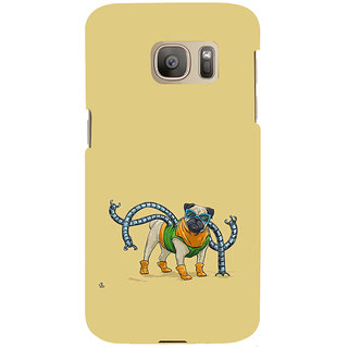 ifasho Dog with colourful  Specs Back Case Cover for Samsung Galaxy S7 Edge