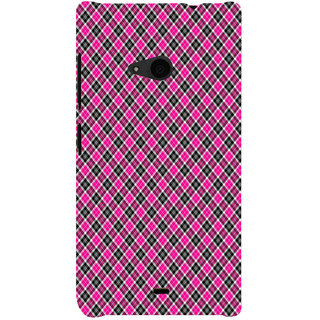 ifasho Colour Full Square Pattern Back Case Cover for Nokia Lumia 535
