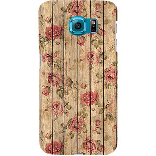 ifasho Modern Art Design painted flower on wood Back Case Cover for Samsung Galaxy S6