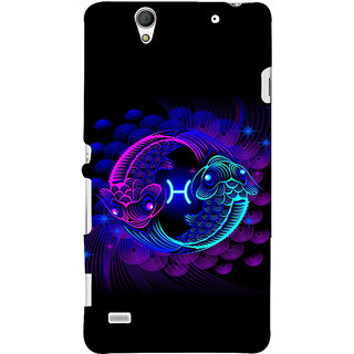 ifasho zodiac sign pisces Back Case Cover for Sony Xperia C4