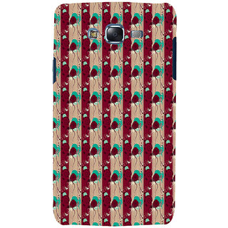 ifasho Animated Pattern design colorful flower in vertical s3Dipe Back Case Cover for Samsung Galaxy J7