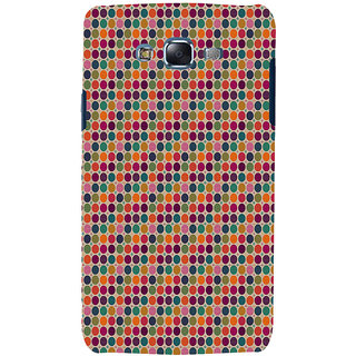 ifasho Animated Pattern  littel and Big colourful Circle Back Case Cover for Samsung Galaxy J7
