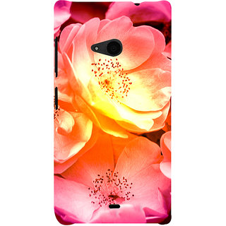 ifasho Flowers Back Case Cover for Nokia Lumia 535