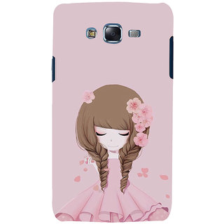 ifasho Girl  with Flower in Hair Back Case Cover for Samsung Galaxy J7 (2016)