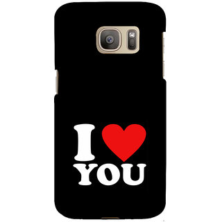 ifasho Love Quotes I love you Back Case Cover for Samsung Galaxy S7 Edge