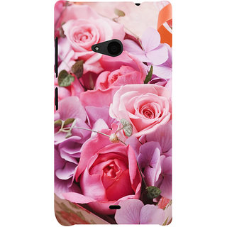 ifasho Red Rose Back Case Cover for Nokia Lumia 535