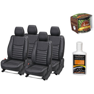 Pegasus Premium Seat Cover for  Tata Zest With Aerozel Wild Mist Gel Perfume and Dashboard polish