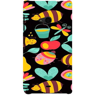 ifasho Animated Pattern colrful flower and butterfly Back Case Cover for Nokia Lumia 535