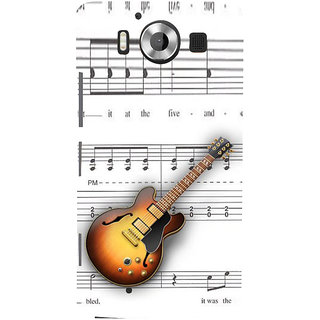 ifasho Modern Art Design Pattern Music Ins3Dument Guitar Back Case Cover for Nokia Lumia 950