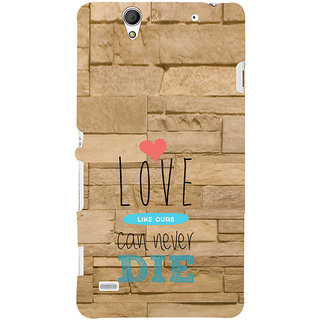 ifasho Love Can Not Die Back Case Cover for Sony Xperia C4