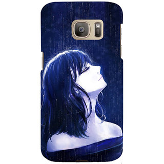 ifasho Girl in rain Back Case Cover for Samsung Galaxy S7 Edge