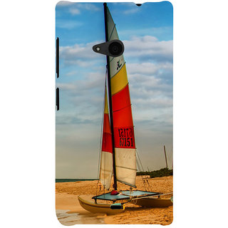 ifasho Boat in a beach Back Case Cover for Nokia Lumia 535