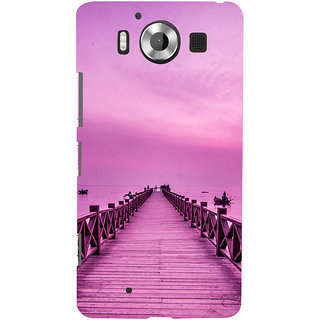 ifasho walking wooden bridge on a sea Back Case Cover for Nokia Lumia 950