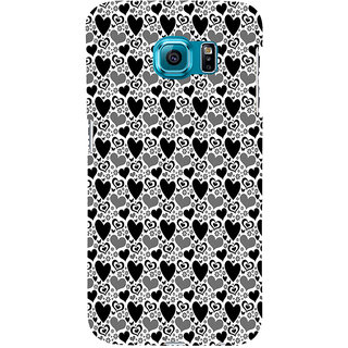 ifasho Modern Art Design Pattern with Lot Of small heart Back Case Cover for Samsung Galaxy S6