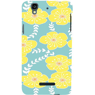 ifasho Animated Pattern flower with leaves Back Case Cover for YU Yurekha