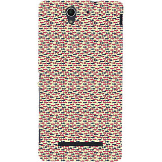 ifasho Modern Art Design Pattern Lot of fish Back Case Cover for Sony Xperia C3 Dual