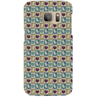 ifasho Animated Pattern birds and heart small size  Back Case Cover for Samsung Galaxy S7 Edge