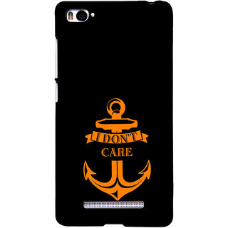 ifasho I dont care quotes Back Case Cover for Redmi Mi4i