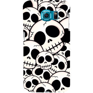 ifasho Modern  Design skeleton Pattern Back Case Cover for Samsung Galaxy S6 Edge Plus