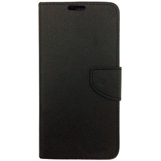 Mercury Wallet Flip case Cover For Micromax Canvas Play Q355  (BLACK)