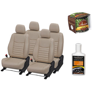 Pegasus Premium Seat Cover for  Chevrolet Aveo With Aerozel Wild Mist Gel Perfume and Dashboard polish