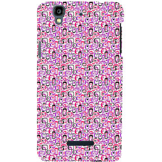 ifasho Colour Full Squre Pattern Back Case Cover for YU Yurekha