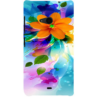 ifasho Flower Design multi color Back Case Cover for Nokia Lumia 535