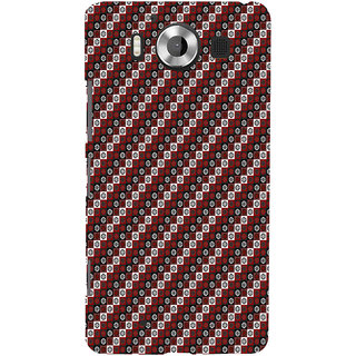 ifasho multi color 3Diangle rectangle and circle Pattern Back Case Cover for Nokia Lumia 950
