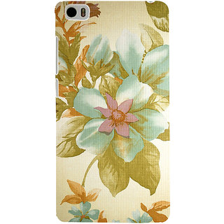 ifasho Animated Pattern colrful design flower with leaves Back Case Cover for Redmi Mi5