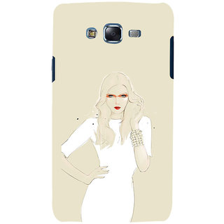 ifasho modern Girl in white dress painting Back Case Cover for Samsung Galaxy J5
