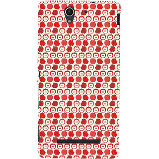 ifasho Animated Pattern design many small  Back Case Cover for Sony Xperia C3 Dual
