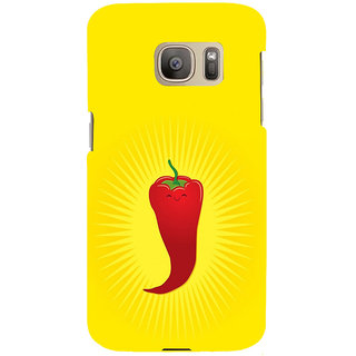 ifasho Red Chillies Back Case Cover for Samsung Galaxy S7 Edge