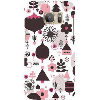 ifasho Animated Pattern colrful 3Dibal design cartoon flower Back Case Cover for Samsung Galaxy S7 Edge