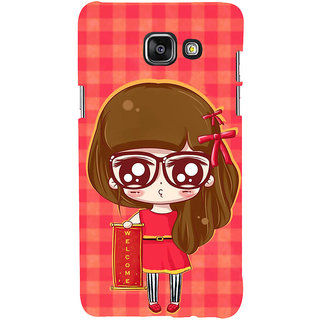 ifasho Crazy Girl Back Case Cover for Samsung Galaxy A5 A510 (2016 Edition)
